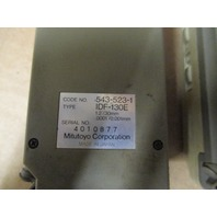 Lot of 2 Mitutoyo 543-523-1  Digimatic Indicator  Type IDF-130E