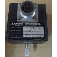 ACCU-CODER 713330-120 INCREMENTAL SHAFT ENCODER