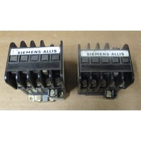 Lot of 2 Siemens-Allis CAT GC-1 DCO* 27 A ENCL . 30 A OPEN 600 VAC 3 POLE