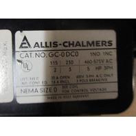 ALLIS - CHALMERS MOTOR STARTER CONTACTOR RELAY # 24-165-240-701 & # GC-0DC0