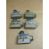 Lot of 5 MICRO SWITCH BZE6-2RN4 LIMIT SWITCH