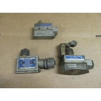 Lot of 3 MICRO SWITCH  BZV6-2RN2, BZE6-2RQ and YZE-2RN LIMIT SWITCH