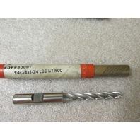 Lot of 3 Brubaker Tool End Mills #74828, #80017, #80007