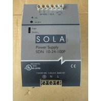 Sola Electric Power Supply Model No. SDN 10-24-100P 115/230 VAC 50/60 HZ