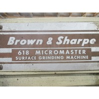 Brown & Sharpe 618 Micromaster Suface Grinder