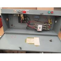 FEDERAL PACIFIC FPE 4204 SIZE 3 CU33S-01 MODEL C 120V COIL MOTOR STARTER  W/ CIRCUIT BREAKER BOX