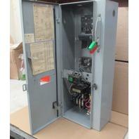 GE Combination Magnetic Starter CR308 600V Max Complete Enclosure 300 Line Control