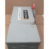 GE CAT#TH3362 DISCONNECT 60A 600V 3POLE Fusible Model 10
