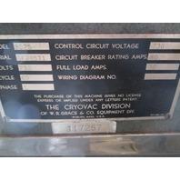 Cryovac Shrink Tunnel Model# 8025 230V Single Phase