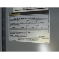 Bussmann ENF4003-3PB411 Enclosure 600V 3 Pole 400A With BDNF400 Control Switch