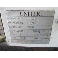Unitek 9-007-01 Unipulse Welding Transformer 16 KVA 460 Volt