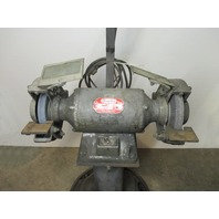 "8"" DAYTON 4Z909A   3/4 HP BENCH GRINDER WITH PEDESTAL"