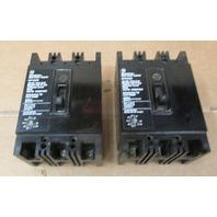 Lot of 2 Westinghouse MCP03150RR Circuit Breaker  30 Amp & 15 Amp 3 Pole 600 V