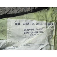 Military Tent Liner 8340-00-285-5033 GP Large  Liner only NO POLES