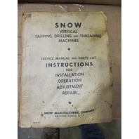 Snow Automatic Drill Machine DR-3 with Master Fixture 9-1 & Service Manual