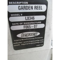 Legacy L8346 Retractable Garden Hose Reel With Bracket