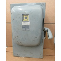 Square D H363 Heavy Duty Safety Switch 600 Vac 100 Amp