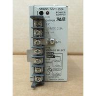 Omron S82H-3524 Power Supply 100-240VAC 24VDC 2.3A
