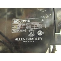 Allen-Bradley  EUTECTIC ALLOY OVERLOAD RELAY 592-TPD400 with Overload 592-JOV16 Series A