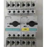 SIEMENS 3RV1721-4AD10 W/ 3RV1721-1AD10