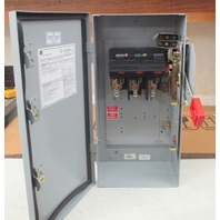 GE safety switch THN3361JCL Model 10 30amp 600Vac/250Vdc Non-Fused