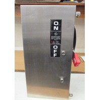 GE THN3361SSCL Stainless Steel safety switch  Model 10 30amp 600Vac/250Vdc