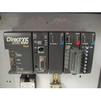 Direct Logic Automation rack D2-04B  D2-250CPU  D2-08NA-1  F208TRS  F208SIM