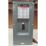 Square D IEC60947-2 100 amp circuit breaker  with enclosure box