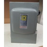 Square D safety switch D322N 60amp 240VAC fusible