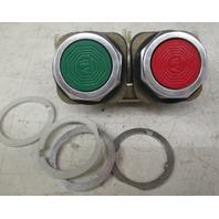 Allen Bradley 800T-XA Series C  800VAC contact block and 800T-FB16 Series P push button mechanism