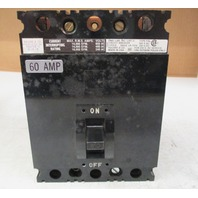 Square D FAL-36060 60amp 3 pole circuit breaker