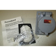 Russellstoll  SKR4G Receptacle  3 wire 4 pole 600V 20A