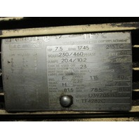 lincoln electric AC motor  7.5 Hp 1745Rpm