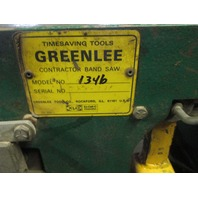 greenlee 1346 horizontal band saw