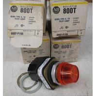 Allen Bradley 800T-P16A  Series T  120V Pilot Light Amber Lens Cap (Lot of 4)