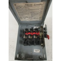 GE safety switch TGN3321R Model B 30Amps  240Vac/250Vdc