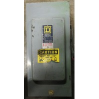 Square D HU363  Series E1 100A  600VAC 50 / 60 Hz Single throw non-fusible Heavy Duty Safety Switch