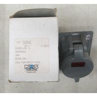 russellstoll receptacle SKR4G 20A-250V /600 VAC NIB