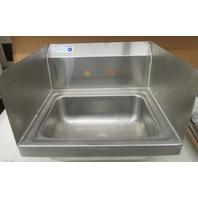 "Serv Ware HS15S-CWP Stainless Steel Sink 15"" X 17"" X 13 1/2"" Hand Sink"