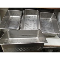 "Stainless Steam table perforated pan 20"" x 12 1/2"" x 6"" deep (Lot of 7)"