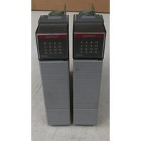 Allen Bradley SLC 500 1746-0A16 Input Module Series D Lot of 2