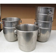 Lot of 4  Stainless Steel Mixer bowls