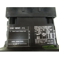 ABB Welding Isolation Contactor EHW160W Size W4 3 pole 300 A 600 VAC