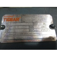 Tigear R374353 001 QY Gear Reducer  with Reliance Electric Duty Master  01UBZ6008301G 24SY 1HP 3 PH Motor with brake