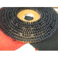 "1- Nylon bristle 20"" floor brush, 4 - 20"" Red Spray pads & 3 - GM 20"" Black stripper pads"
