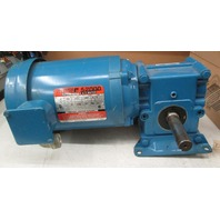 Reliance Electric S-2000 1/2 HP AC motor ID B78C4183M-OW  with 15:1 Ratio Shuttleworth Gear Box