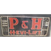 P&H Hevi-Lift 2-Ton Cable Hoist 440 V 3 Phase