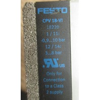Festo Valves CPV18-VI  *For Parts*