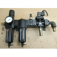 Norgren Filter B74G-6AK-QD3-RMN w/ Lubricator L74M-6AP-QDN w/ Solenoid Valve P74C-NAC-SJA