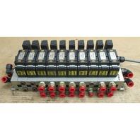 SMC Solenoid Valves NVFS3100-3FZC with 10 Valve Base NVV5FS3-01T-101-03T